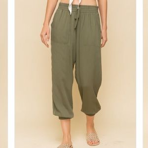 NWT Olive Joggers
